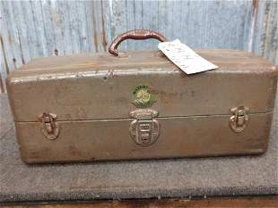 Vintage Tackle Box With 41 Vintage Fishing Lures