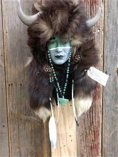 Native American Bust Art Piece