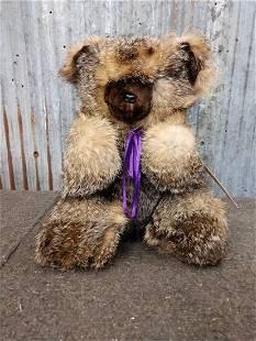 Custom Made Jointed Teddy Bear Real Fur Taxidermy
