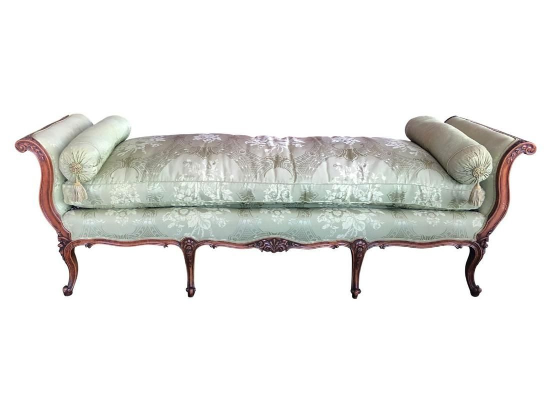 Louis XV Style French Antique Walnut Daybed