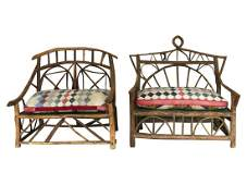 Willow Branch Benches, Pair