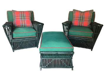 Bielecky Lounge Chairs and Ottoman