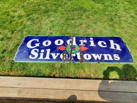 Goodrich Silvertowns Porcelain Sign