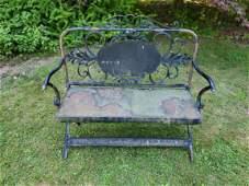 Attractive metal bench