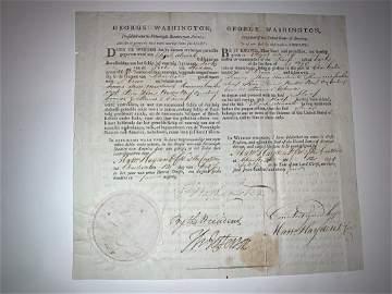 George Washington and Thomas Jefferson Dual Signed- JSA