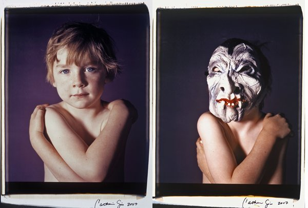 6: Oliver & Oliver w/ Mask #3, 2007, by Catherine Opie