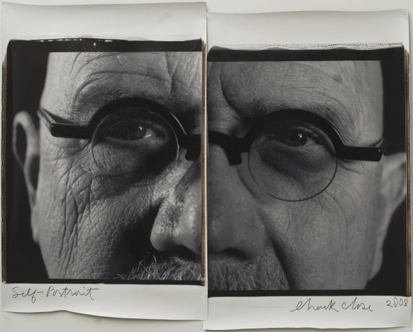 7: Self-Portrait/Diptych, by Chuck Close