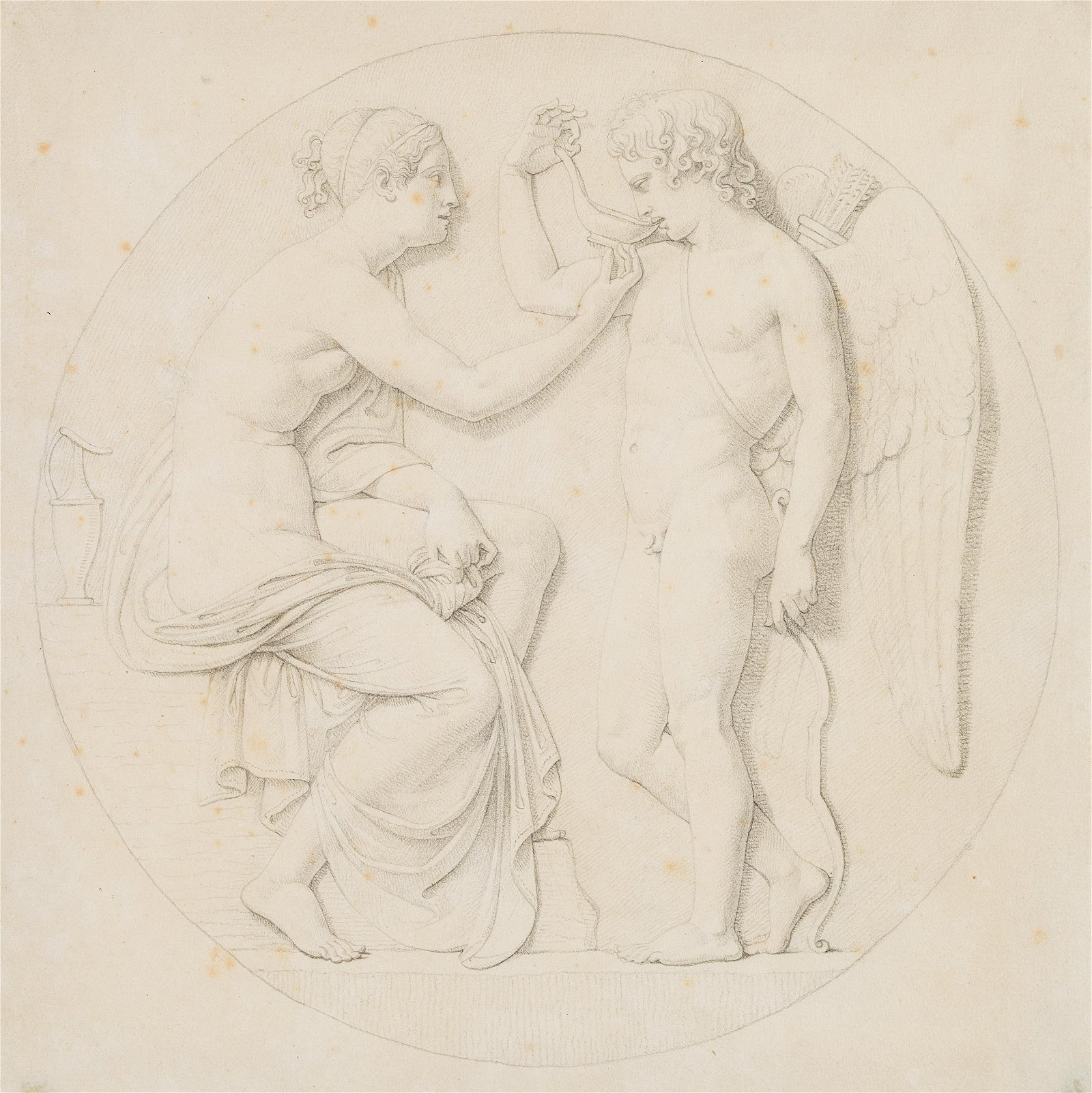 after R.SCHADOW, Draft for a relief medallion, Hebe