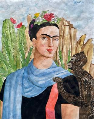 Frida Kahlo (Watercolor on Paper)