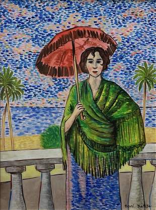 Henri Matisse (Watercolor on Paper)