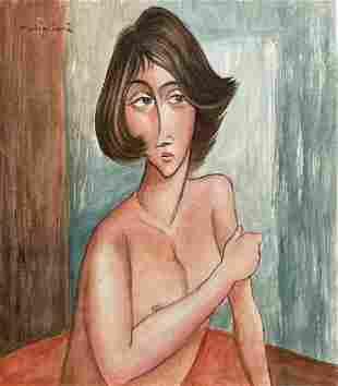 Amedeo Modigliani ( Watercolor on Paper)