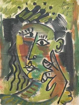 Pablo Picasso (Watercolor on Paper)