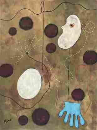 Joan Miro (Gouache on Paper)