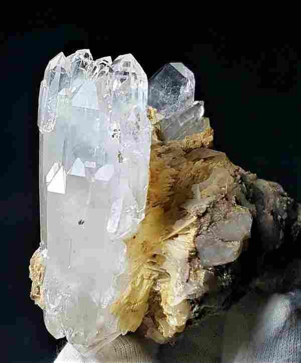 Undamaged Fedan Quartz Crystals Cluster - 203 Grams