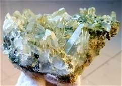 4547 grams Chlorine Quartz Crystals Cluster
