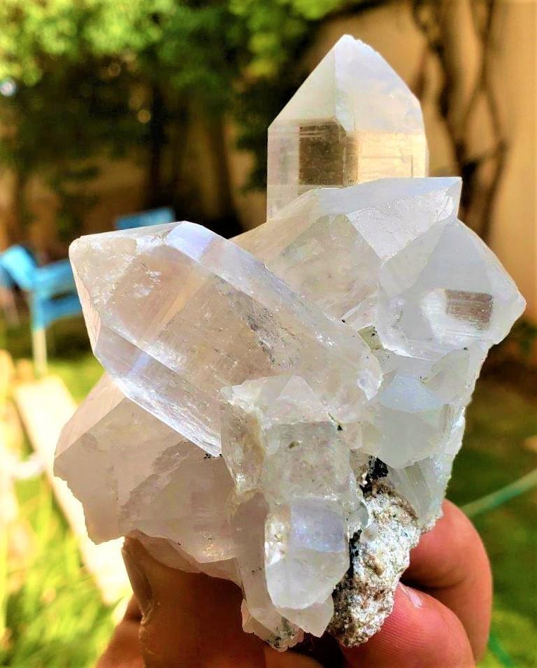 Healing Quartz Crystals Cluster - 229.7 Grams