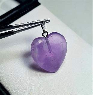 Top Quality Sterling Silver Natural Amethyst Pendant