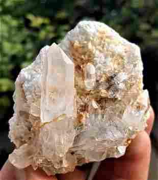 Quartz Cluster With Mother Rock - 96.8 Grams