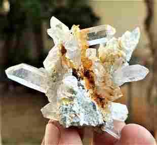 Quartz Crystals on Mother Rock - 29.6 Grams