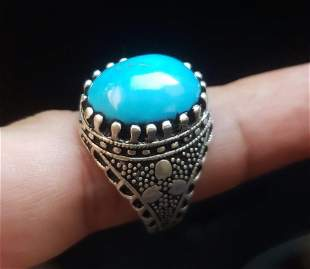 Top Grade Torquoise Ring In Sterling Silver