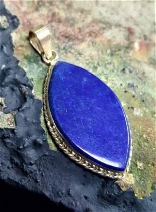 Navy Blue Lapis Lazuli Necklace
