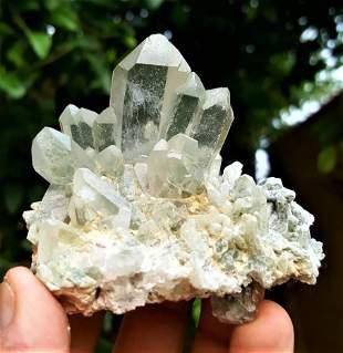 Chlorine Quartz Crystal Cluster - 100 Grams