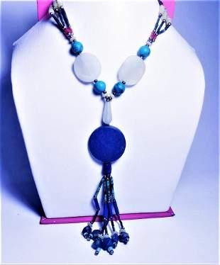 Egyptian Style Lapis Jade Jewelry