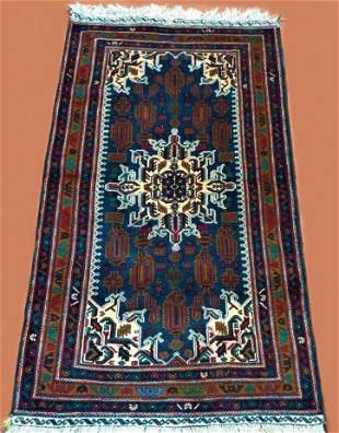 Hand Knotted Tribal Afghan Wool Rug