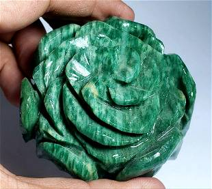 Beautifully Carved Mosonite Flower