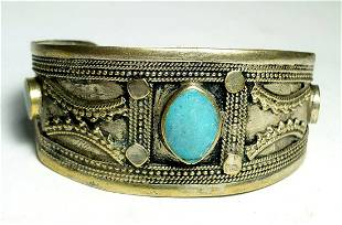 Old Style Chinese Torquoise Gale Bangle