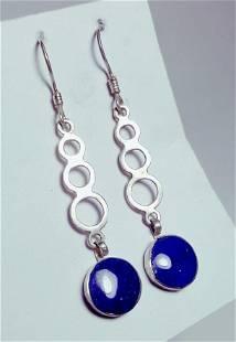 925 Silver Earring, Lapis Earring