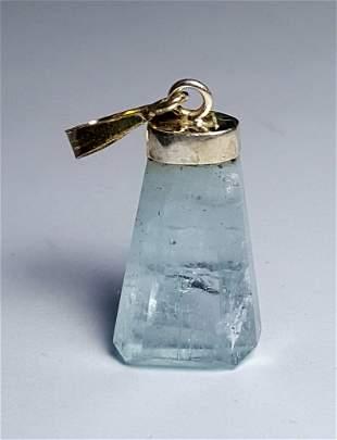 Sterling Silver Aquamarine Natural Pendant