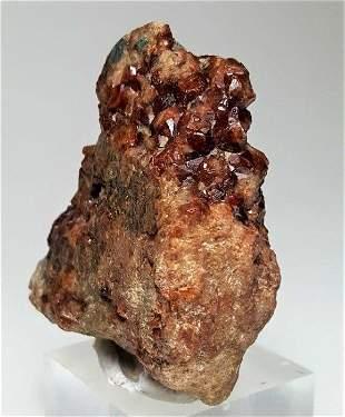 Deep Purple Fluorite Specimen With Calcite - 261 Grams
