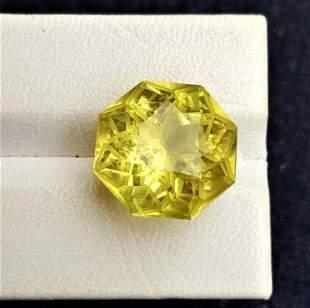 Flower Cut Lemon Quartz - 18.60 Carats