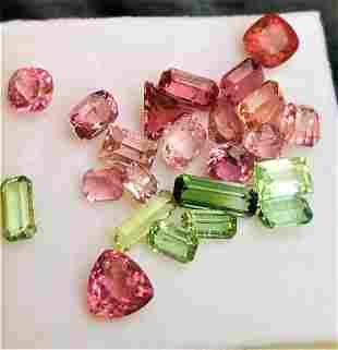 52 Carats Top Quality Tourmaline Colorful Lot