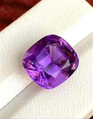 Cushion Cut Amethyst Cut Stone - 13 Carats