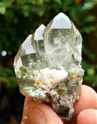 Amazing Formation of Chlorine Quartz - 25 Grams