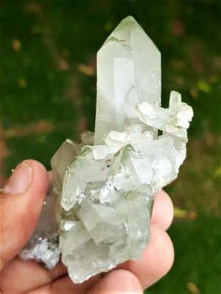 Natural Chlorine Quartz Crystal Mineral - 94.60 Grams