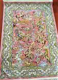 Vintage Mazlaghan Persian Rug