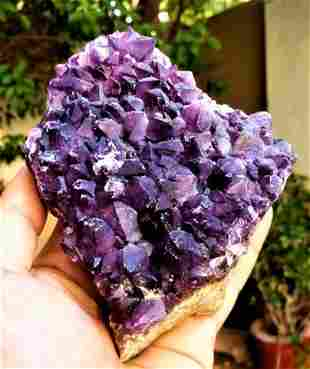 Amethyst Crystals Cluster SpeCmen - 620.7 Grams