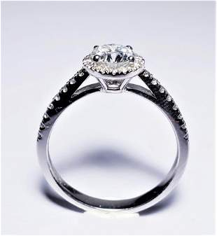 Certified Platinum ring with 35 Diamonds
