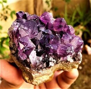 Amethyst Crystals Cluster SpeCimen - 240.4 Grams