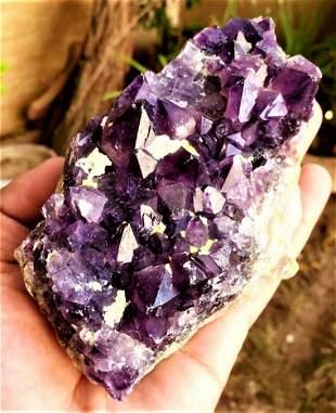 Amethyst Crystals Cluster SpeCmen - 523.9 Grams