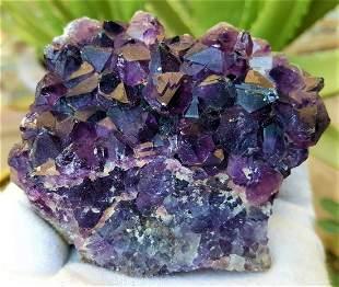 313.1 Grams Natural Amethyst Crystals Cluster
