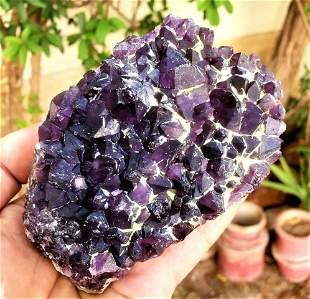 Amethyst Crystals Cluster SpeCimen - 528 Grams