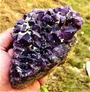 Amethyst Crystals Cluster SpeCimen - 563.8 Grams