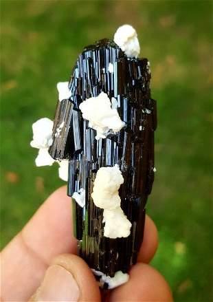 Tourmaline Crystal with Albite Specimen - 44.33 Grams