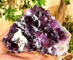 Amethyst Crystals Cluster SpeCimen - 448.1 Grams