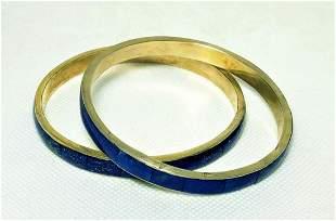 Royal Blue Lapis Lazuli Paired Bangles