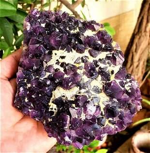 Amethyst Crystals Cluster SpeCimen - 787 Grams